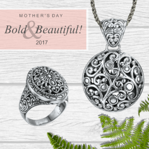 Mother's Day; Bold & Beautiful! Bali Pendant and ring