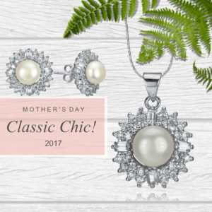 Mother's Day; Classic Chic! Crystal and pearl set