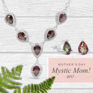 Mother's Day; Mystic Mom! Mystic Topaz Drop Necklace and Studs