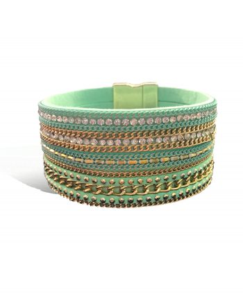 Fashion Jewelry Bracelet - Mixed Green Wrap Bracelet | Vivah Jewellery