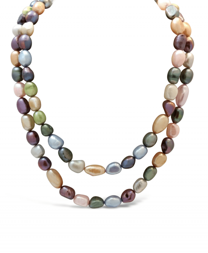 Jewel Tones Fresh Water Pearl Necklace