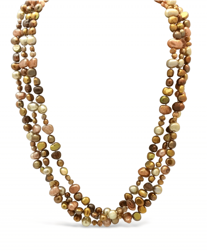 Bronzed Fresh Water Pearl Necklace