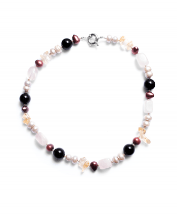Gemstone & Pearl Mix Necklace - 748528