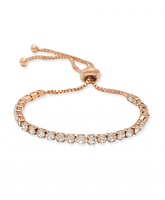 Crystal Bracelet Adjustable Rose Gold Plated