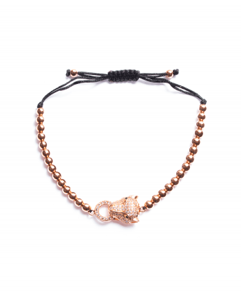 Rose Gold Plated Shamballa Panther Bracelet - 170339