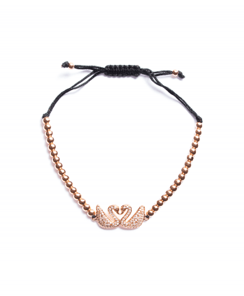 Rose Gold Plated Swan Shamballa Bracelet -170439