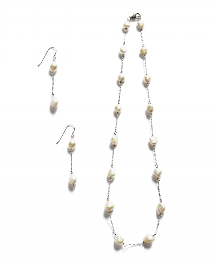 Sterling Silver Multiple Pearl Set - 623629