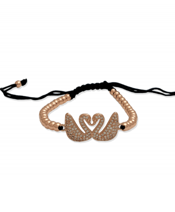 Rose Gold Plated Shamballa Swan Bracelet - 170439