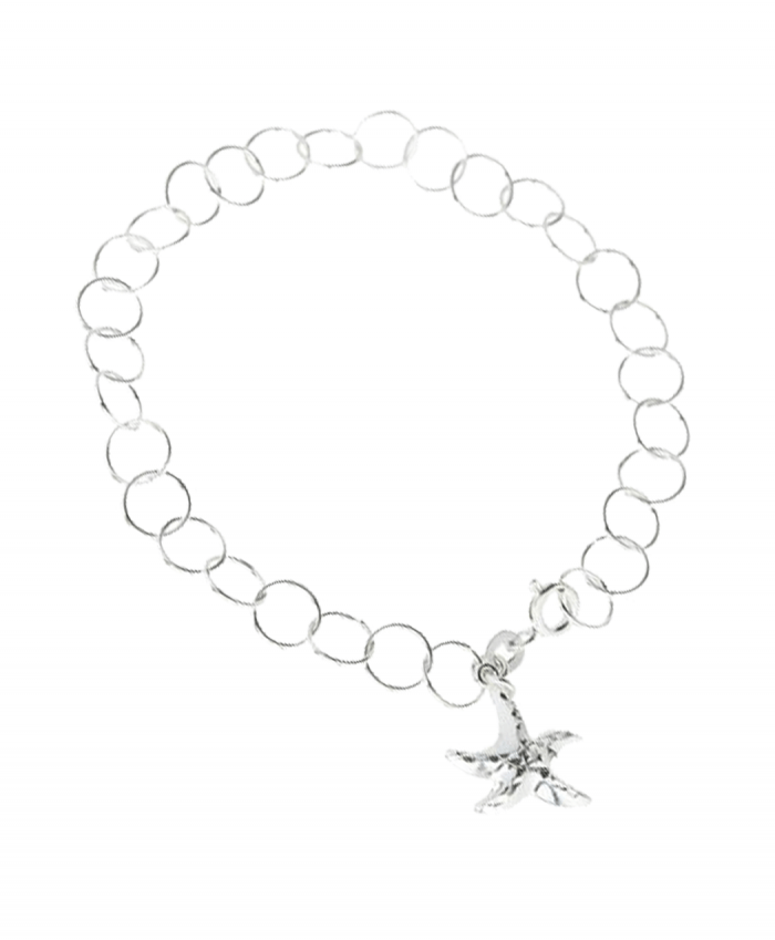 Silver Plated Starfish Charm Bracelet - 192850