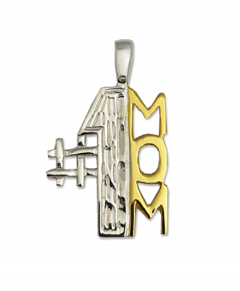 Sterling Silver Mom Pendant - Gold Plate
