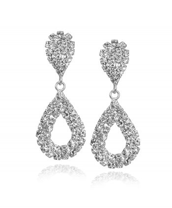 Crystal Pear Teardrop Studs - 262231