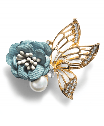 Chanel Inspired Flower & Pearl Pin - 551929
