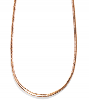 Rose Gold Plated Omega Necklace 6mm - 714639