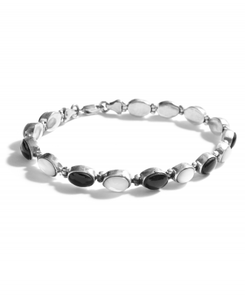 867128 - Assorted Semi-Precious Stone Bracelet in Black & White