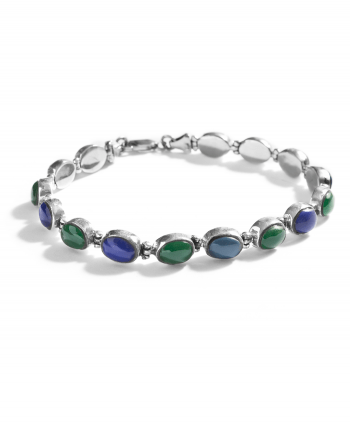 867128 - Assorted Semi-Precious Stone Bracelet in Green & Purple