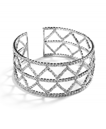 Triangle Crystal Bracelet Silver Plate - 174730