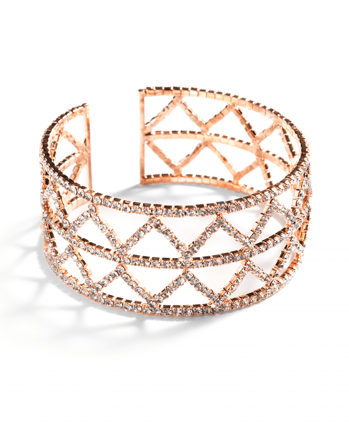 Triangle Crystal Bracelet Rose Gold - 174739