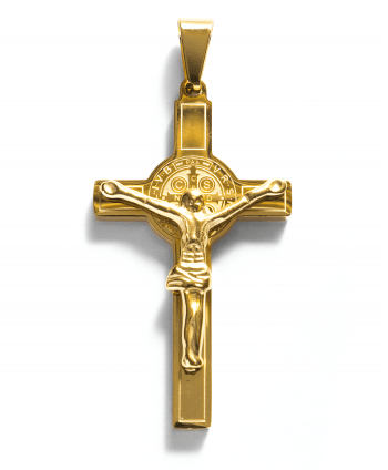 Gold Plated Christ on Cross Pendant - 571702