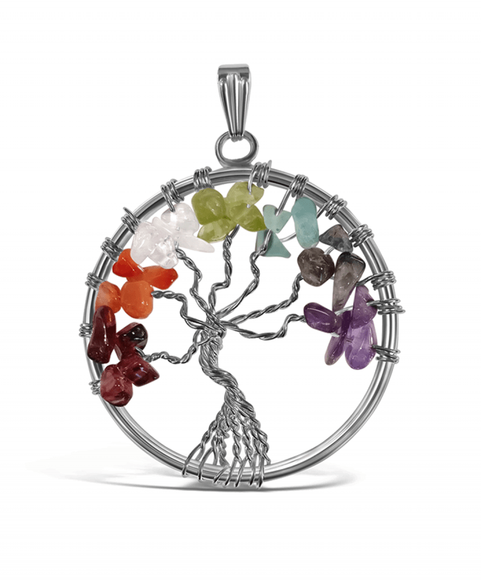 Mixed Stones Tree of Life Pendant - 575600