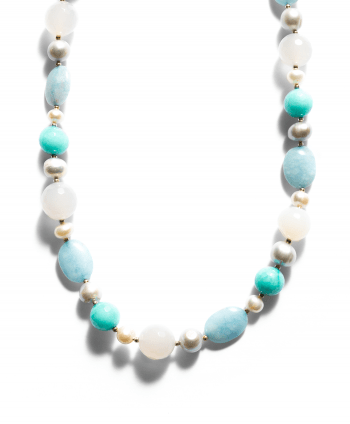 Semi-Precious Stones Necklace Blue & Green - 748528