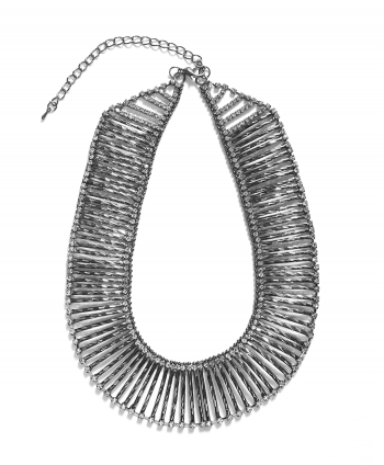 Princess Collar Crystal Necklace Gunmetal Plate - 766811