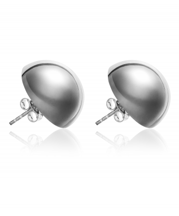 Sterling Silver Half Ball 18MM Stud Earrings - 920561
