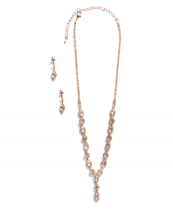 Marquise & Round Crystal Set Rose Gold - 261639